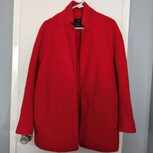 J.Crew Camille Short Wrap Coat in Bright Red